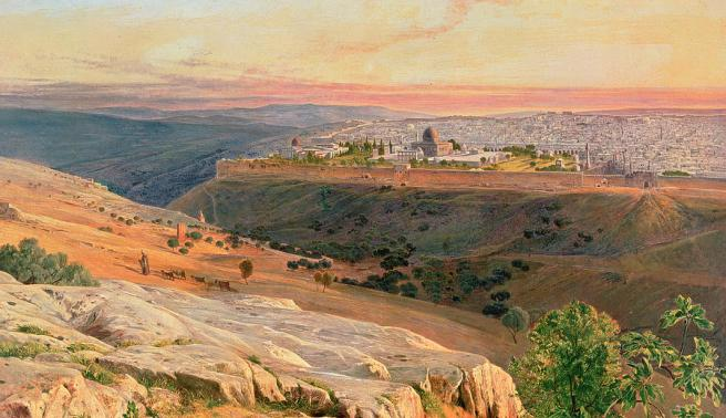jerusalem-from-the-mount-of-olives-edward-lear